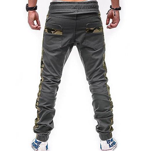 BBsmile Moda Pantalones Hombre Trabajo Elasticos Pantalones Hombre Chandal Deporte Pitillo Vaquero Elastico Cinturones de Amarre Conjunto Casual ...