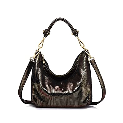 Image Unavailable. Image not available for. Color  Women Genuine Leather Shoulder  Bag Serpentine Pattern Small Handbag ... 184c863fae567