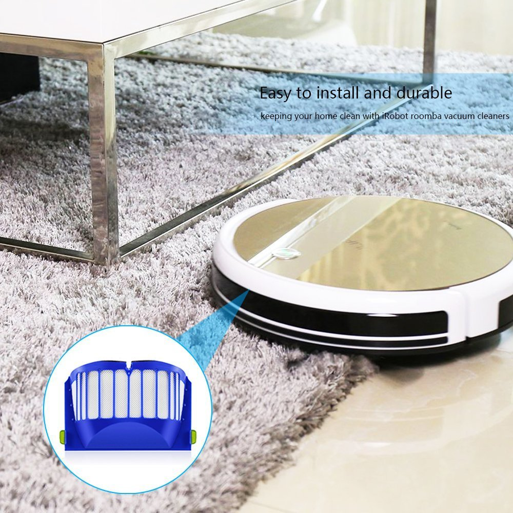 Replacement kit for iRobot Roomba series 600 Includes 2pcs Filter, 3pcs Side Brush, and 1pcs Bristle Brush and Flexible Beater Brush sold by CNASA