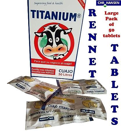 Pack completo de cuajo para elaborar queso, pastillas ...