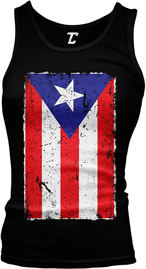 Puerto Rico Flag Boricua Rican Nuyorican Front and Back Mens Muscle Tank Top Sleeveless t Shirt
