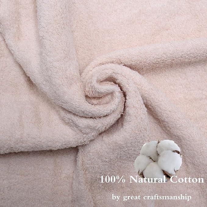 Hotel calidad 100% natural algodón juego de toallas 6 piezas (2 toallas de ducha, 2 toallas de mano y 2 Paños) - absorbente y Eco-friendly hipoalergénico: ...