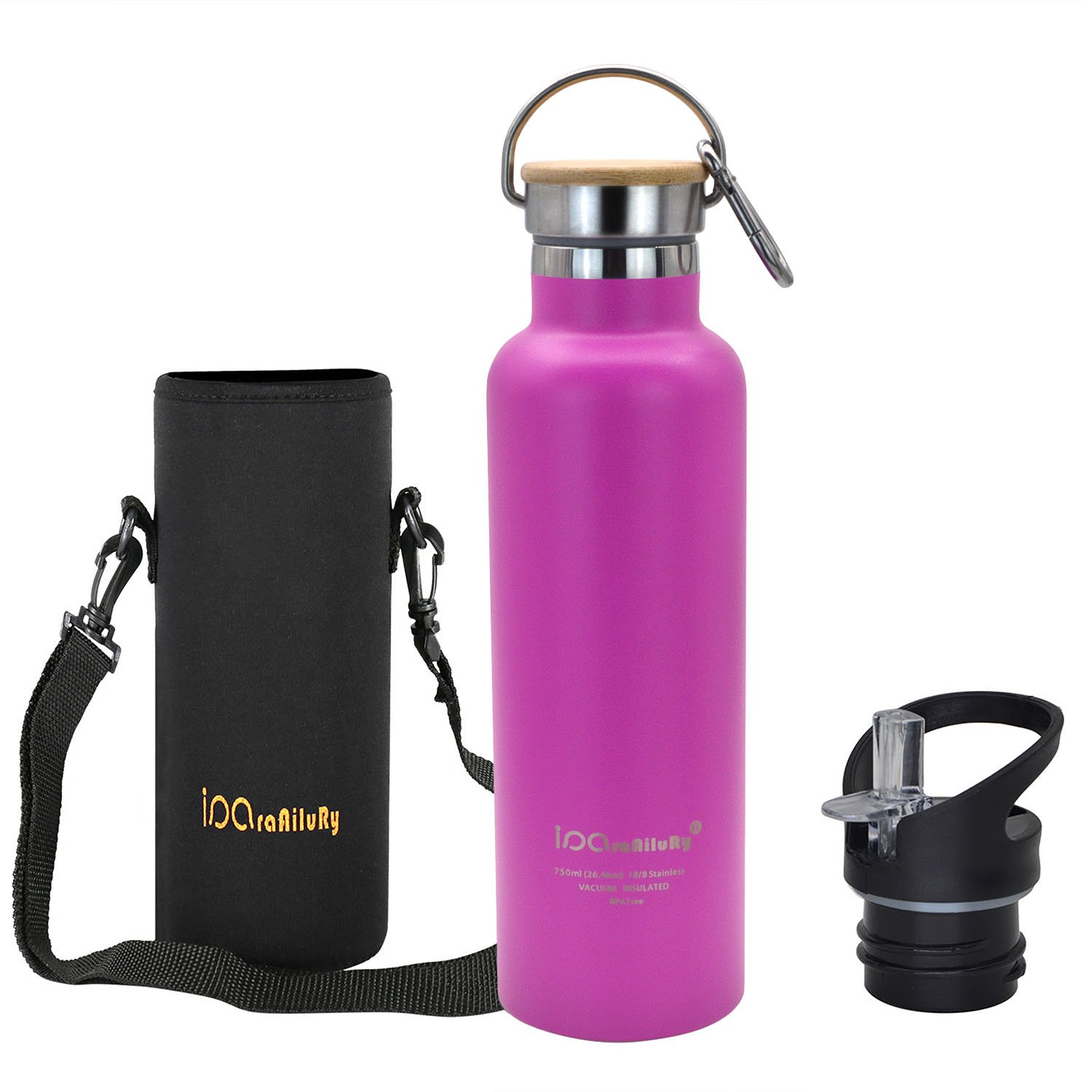 iParaAiluRy Stainless Steel Hot Cold Water Bottle Vacuum Insulated Thermos Tlask