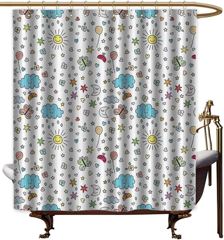 Cortinas de ducha para baño con forro de decoración del hogar, diseño de estrellas de la orilla del espacio exterior, imagen en espiral de galaxia, polvo de estrellas con astromonía de luz