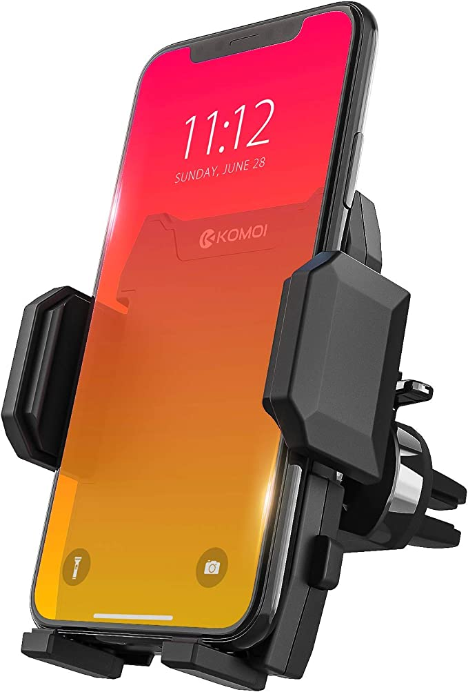 Gravity Car Phone Mount Auto-Clamping Air Vent Car Phone Holder Universal Car Phone Mount Compatible iPhone 6s//7s//8//8Plus//X//XR//XS and Various Smart Mobile Phone YAKAR Cell Phone Holder for Car BlacK