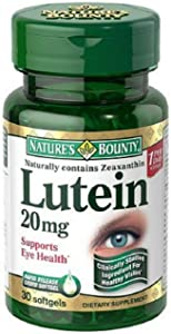 Nature's Bounty Lutein 20 mg Softgels 30 ea (Pack of 4)