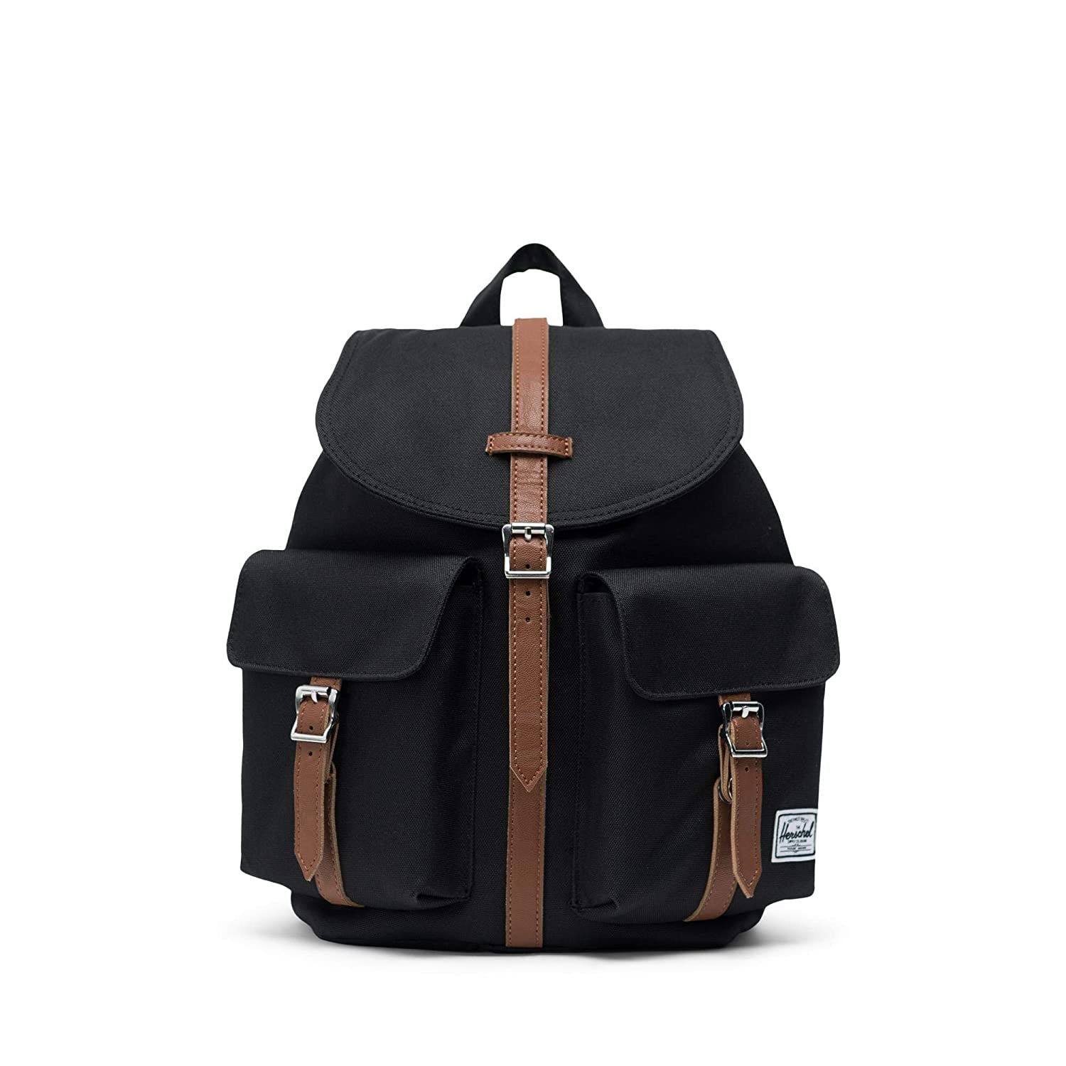 1629e746e19 Amazon.com   Herschel Dawson Womens  Backpack-Black Tan Synthentic   Casual  Daypacks