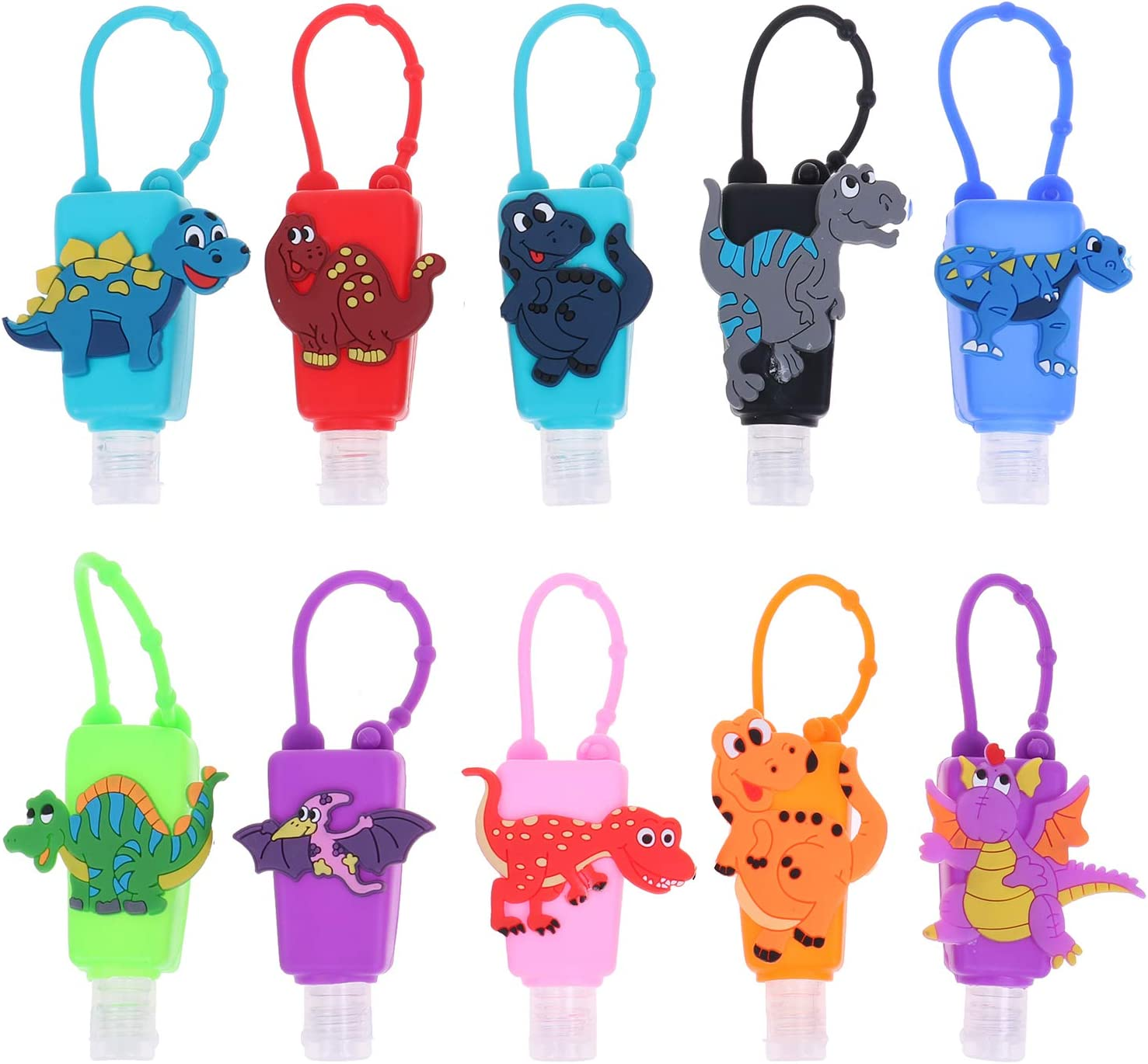 Cow Print Hand Sanitizer Key Ring Holder with 30ml Bottle