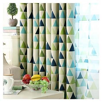 Majome géométrique personnalisée Rideau Contemporain Rideaux pour Le Salon  Chambre à Coucher ombrage Style Nordique, Tissu, Green, Pole Curtain