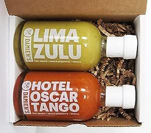 2-Pack of Damien's - Hotel Oscar Tango & Lima Zulu Hot Sauces