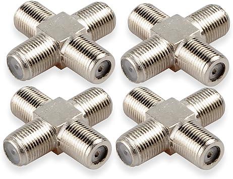 dcfun coaxial Hembra a 3 Hembra Divisor, Divisor para Cable ...