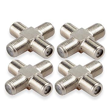 dcfun coaxial hembra a 3 hembra divisor, divisor para Cable Coaxial (1 en,