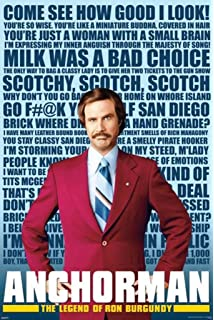 Posters USA MOV426 Anchorman Legend of Ron Burgundy Movie Poster Glossy