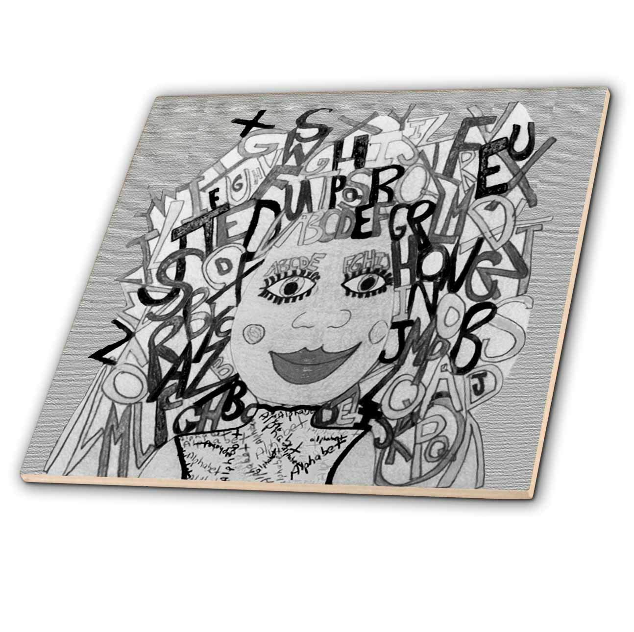 A Lady with Zentangle Hair and Circles on her cheekbones 3dRose Jos Fauxtographee Jos Faux Doll Zentangle T-Shirts
