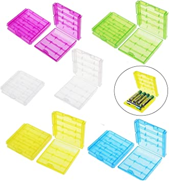 Caja de almacenamiento de pilas de plástico duro para pilas AA o ...