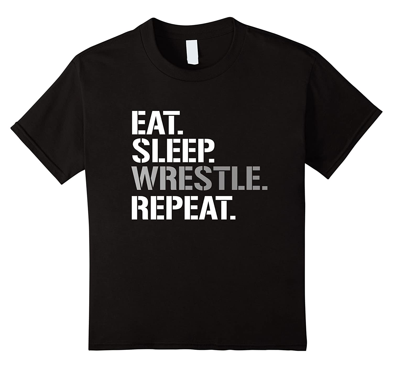 Mens Sleep Wrestle Shirt Repeat-Teeae