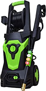 PowRyte Elite 1800 Watt 15A Electric Pressure Washer,Advanced Power Washer with Hose Reel,Spray Washer with 4 Spray Tips and Powerful Motor - 4500PSI 3.5GPM