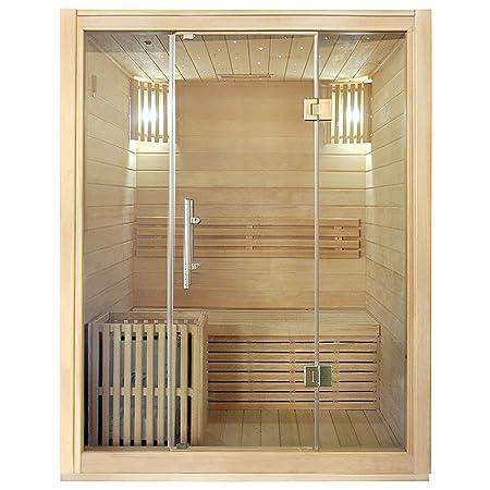 Sauna Finlandese Completa Di Stufa Da 3 Kw E Cabina In Legno
