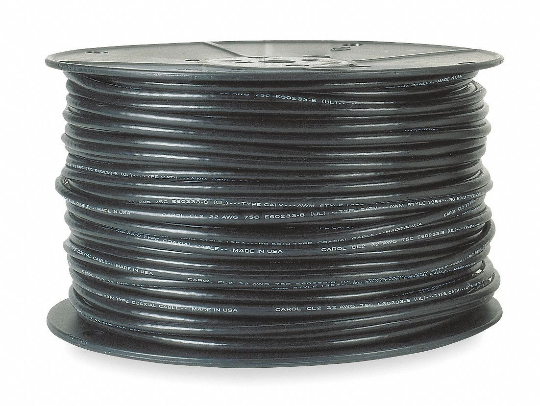 Carol Coaxial Dual Cable, 1000 ft. Length, 18 AWG Conductor ...