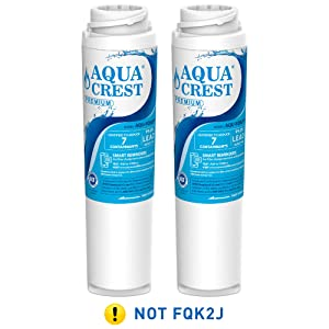 AQUACREST FQSLF NSF 53 Certified to Reduce 99% Lead and More, Compatible with GE FQSLF Undersink Water Filter (1 Set)