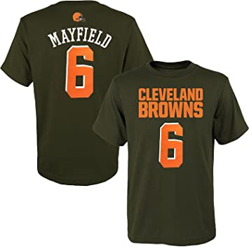 new arrival 5b859 a5561 OuterStuff Baker Mayfield Cleveland Browns #6 Brown Youth Name & Number  T-Shirt