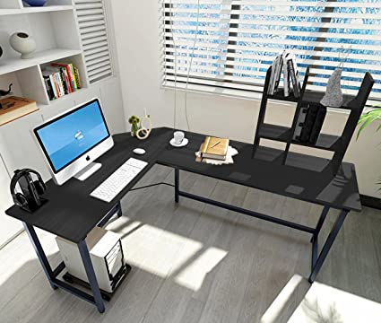 home office shaped. ELEVENS Modern L-Shaped Corner Desk Computer Office PC Laptop Table Home Study Shaped