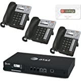 AT&T SYN248 SMB Phone System Bundle Including 4 Line Analog Gateway - SB35010, And 3 Deskset Phones - SB35025 + $15 aSavings Gift Card