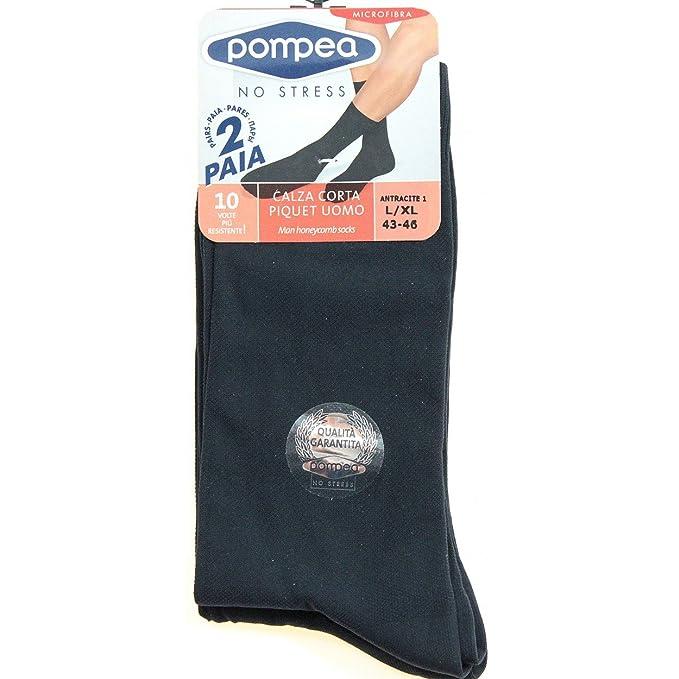 design raffinato vendita più calda bellissimo aspetto POMPEA 4 Paia di calze corte Uomo Piquet Grigio 39/42-43/46 in microfibra