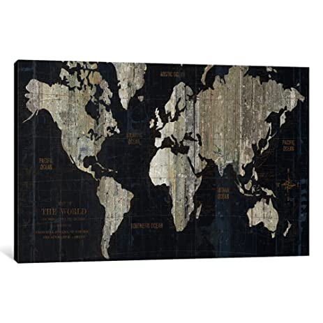 Amazon icanvasart 1 piece old world map blue canvas print by icanvasart 1 piece old world map blue canvas print by wild apple portfolio 40quot gumiabroncs Image collections