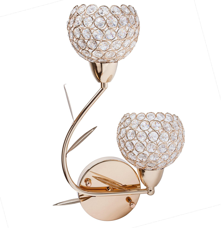 Lightess Crystal Wall Sconce Lighting Modern Sconces Light for Bathroom Home (Right)