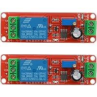 Slibrat 2pcs DC 12V Delay Relay Shield NE555
