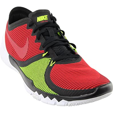 low priced 2e02c f7520 Nike Mens Free Trainer 3.0 V4 Running Shoes (Red, Black, Volt) Sz. 7   Amazon.co.uk  Shoes   Bags
