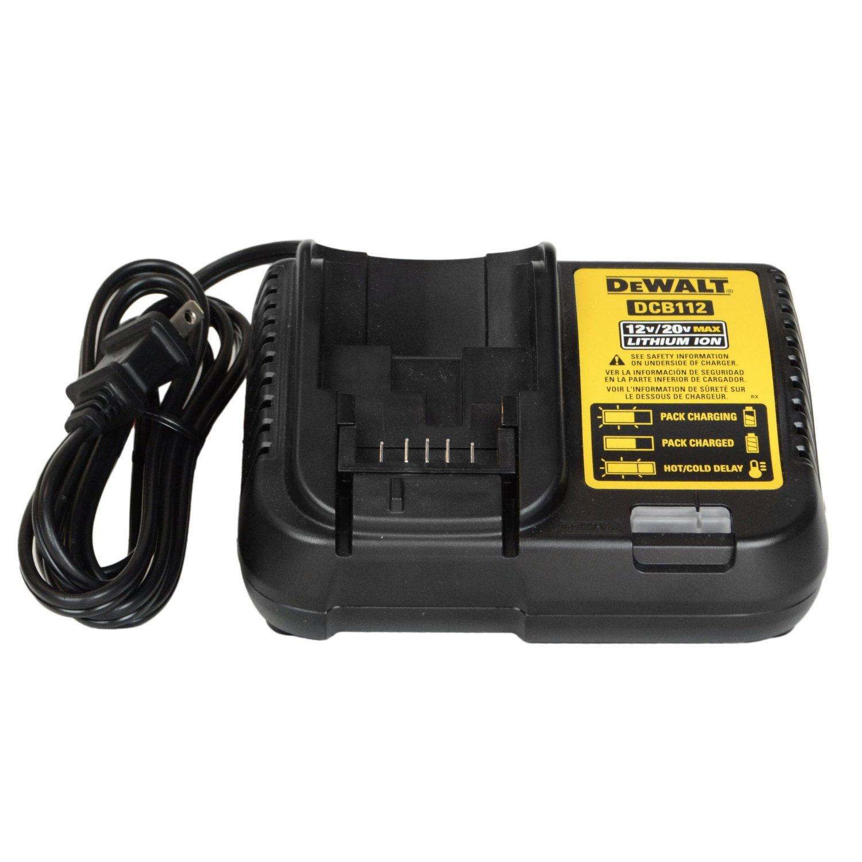 DeWALT DCB112 110-Volt 12-Volt MAX/20-Volt MAX Lithium-Ion Battery Charger