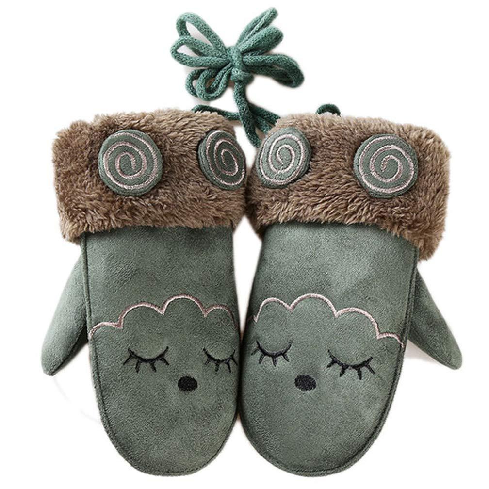 Telamee 2018 Winter Gloves for Kids Full Fleece Lined Skiing Gloves Warm Mittens