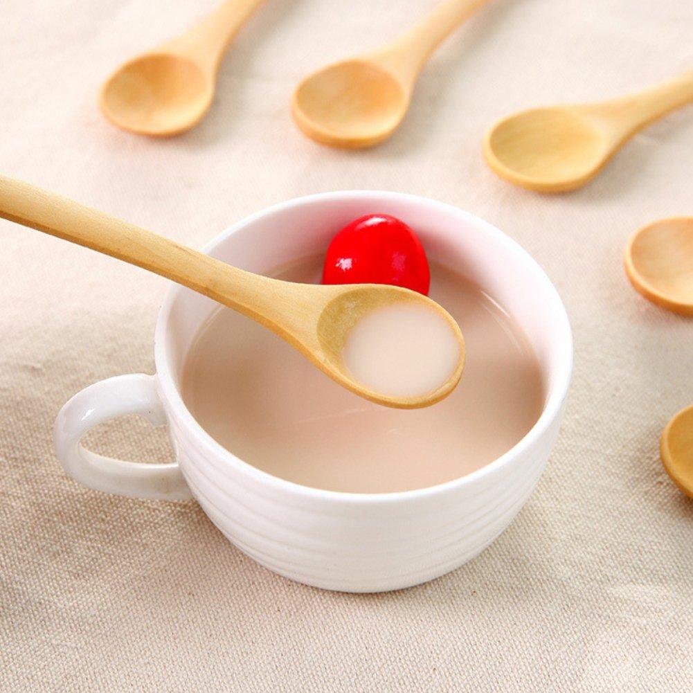 Cucchiai piccoli in legno 9 pezzi Multi antipasti idea regalo dessert Tianxiangjjeu gelato per caff/è