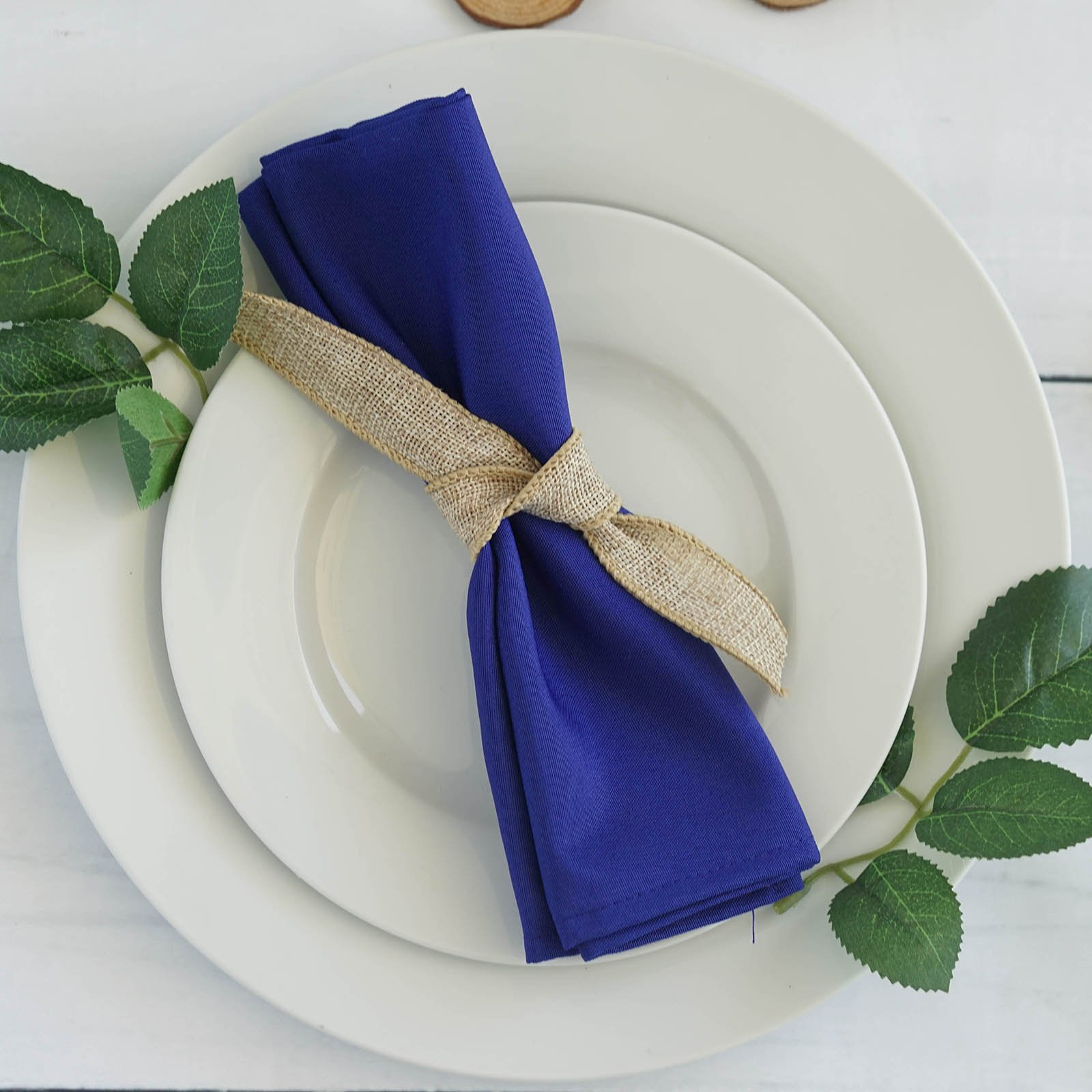 BalsaCircle 100 pcs 17-Inch Royal Blue Polyester Luncheon Napkins - for Wedding Party Reception Events Restaurant Kitchen Home