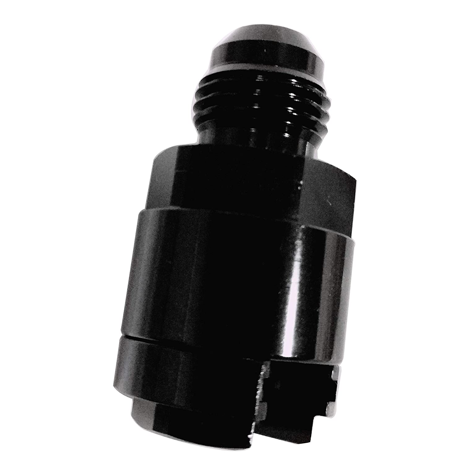 Quick Disconnect Fuel Rail Line EFI Adapter Fitting LS LS1 LS3-6 AN to 3//8 Hose GM Quick-Connect Female Push-on Aluminum Black