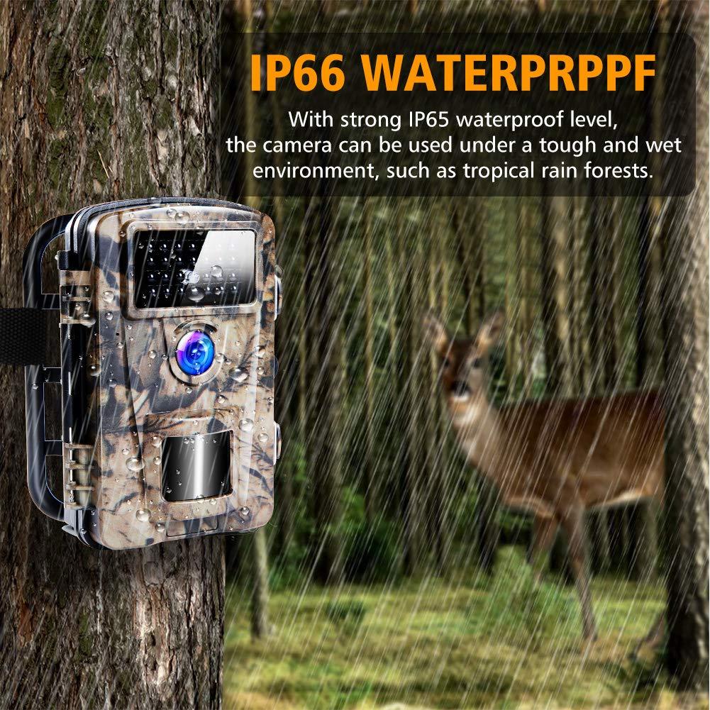 C/ámara de Caza Trail C/ámara Impermeable Trail C/ámara 12MP 1080P IP66 LED de IR Invisible Movimiento Visi/ón Nocturna Accesorios M/últiples