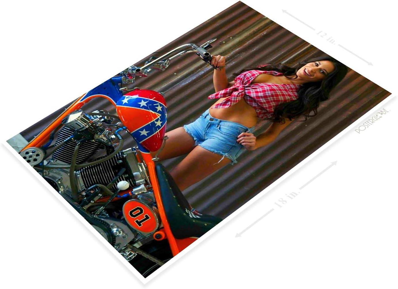 Daisy Dukes Country Pin-up Girl Farm Tractor Pin-up Decor Tin Sign B605