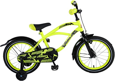 .Volare Bicicleta Niño Yellow Cruiser 16 Pulgadas Ruedas ...