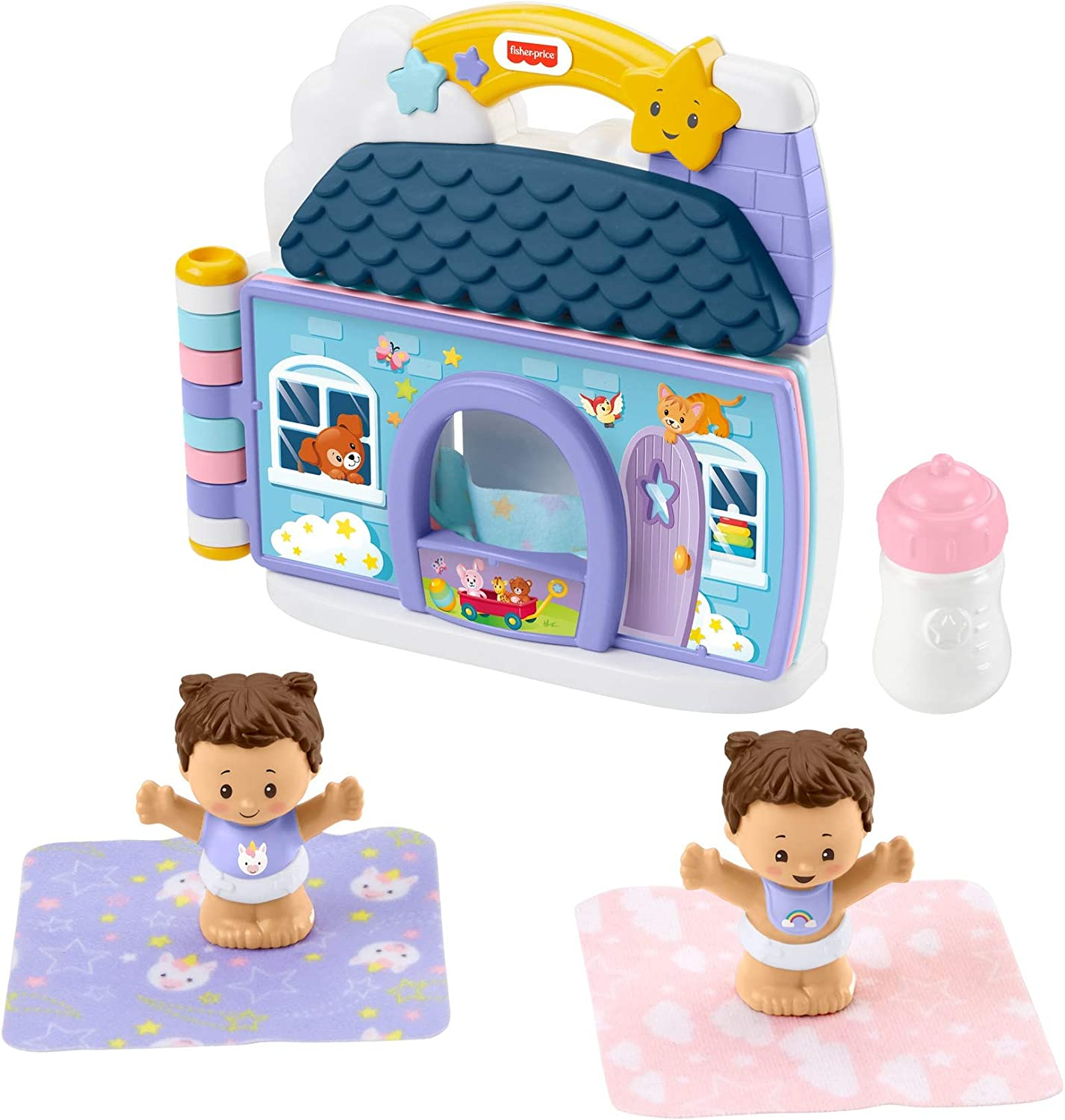 Fisher-Price Little People Baby's Day Storybook Set