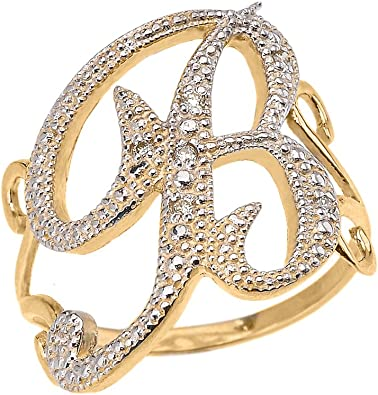 14kt Yellow Gold Vintage Initial /'B/' Ring