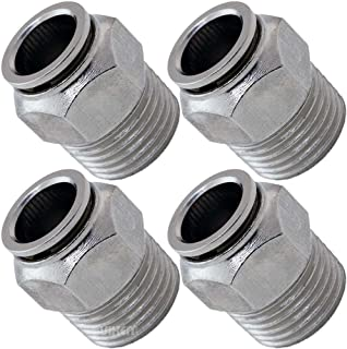 Technifit CDC Pneumatics PL1//2-N2 Male Swivel Elbow Push-to-Connect Fitting