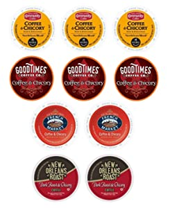 Coffee & Chicory Sampler Variety Box for Keurig K-Cup Brewers, 10 Count