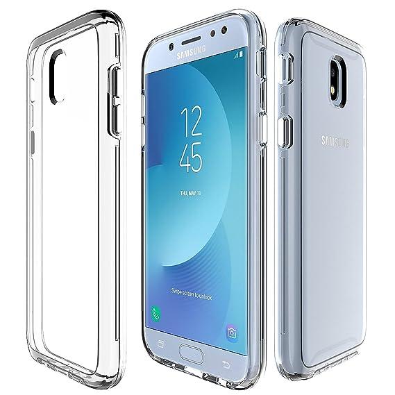 quality design 560fa 75575 UMaple Galaxy J7 Pro Case,Ultra Slim Crystal Clear Back Cover & Flexible  Hybrid TPU Shock-Absorption Protection Case for Samsung Galaxy J730 J7 Pro  ...