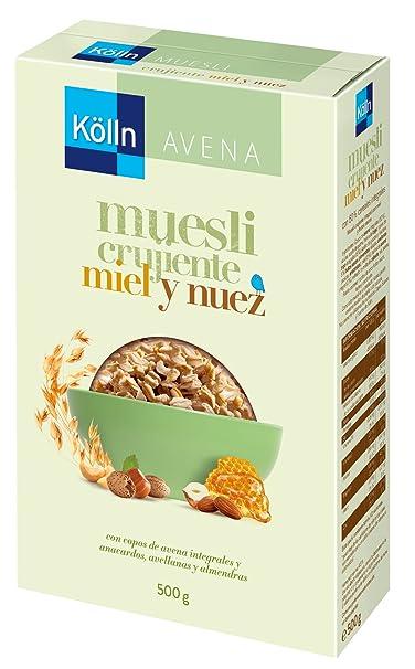 Kölln - Mueslis de avena con miel y frutos secos, 500 gramos [Pack de