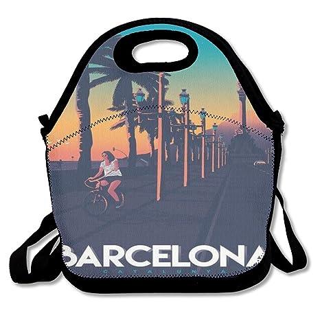 Amazon.com: Barcelona Spain Travel Vintage Poster Lunch Bag ...