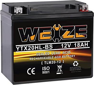NICHE AGM Battery for YTX20HL fits Polaris Sportsman 500