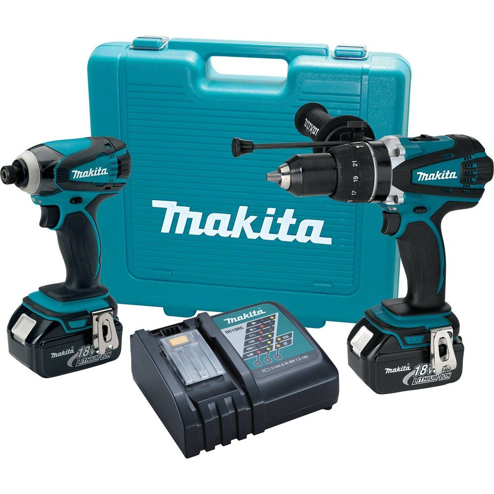 Makita XT218 18V LXT Lithium-Ion Cordless Combo Kit, 2-Piece by Makita