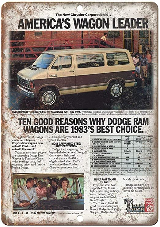Dodge Ram Wagon Póster De Pared Metal Retro Placa Cartel ...